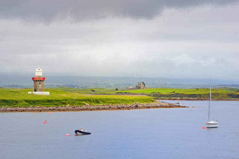 Farol, ponto de Rosses, condado Sligo fotografia de stock royalty free