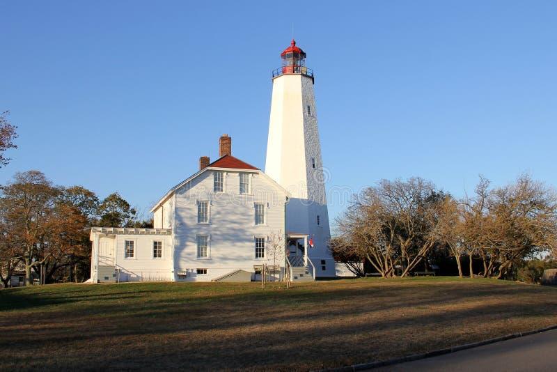 Farol Sandy Hook, o mais antigo farol que funciona nos Estados Unidos, construído em 1764 imagem de stock royalty free