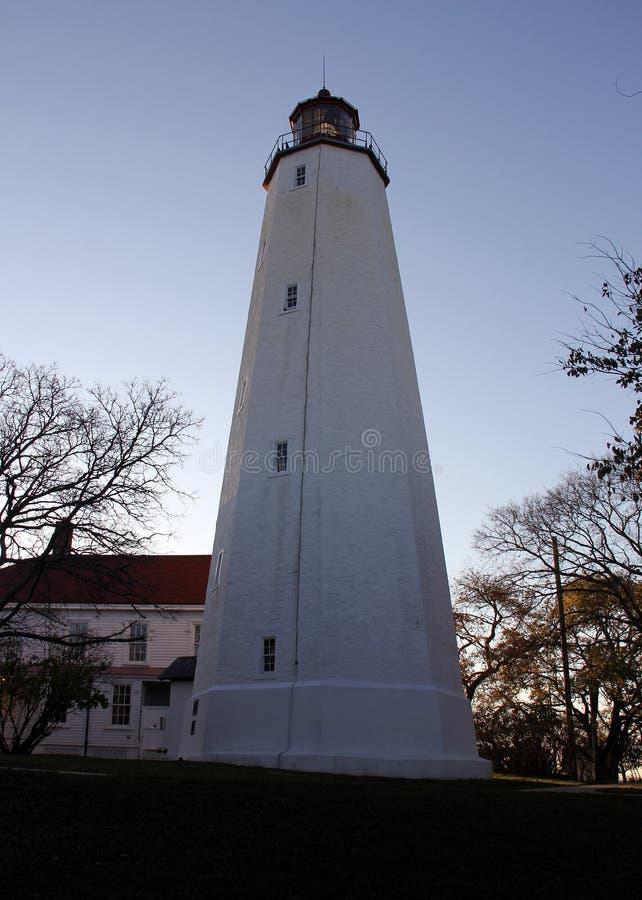 Farol Sandy Hook, o mais antigo farol que funciona nos Estados Unidos, construído em 1764 fotos de stock royalty free