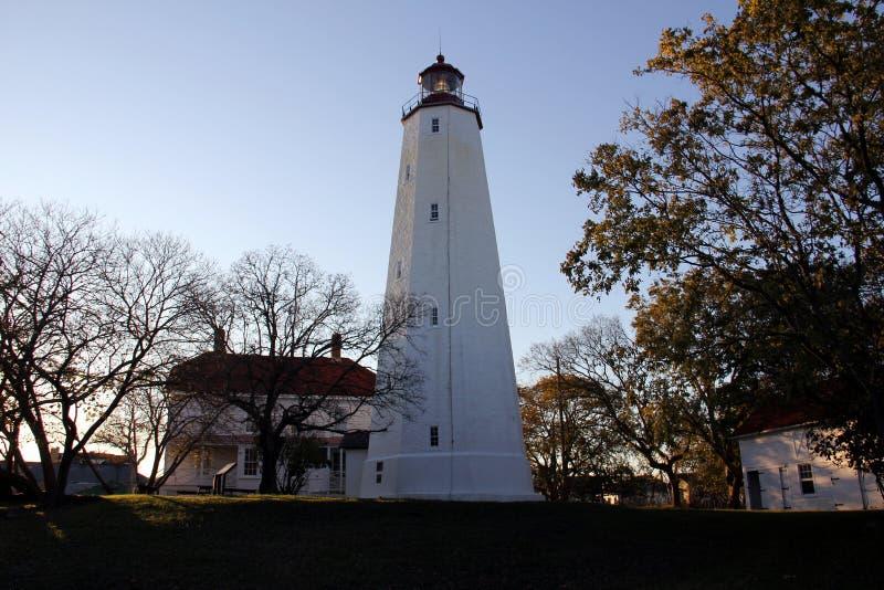 Farol Sandy Hook, o mais antigo farol que funciona nos Estados Unidos, construído em 1764 foto de stock royalty free