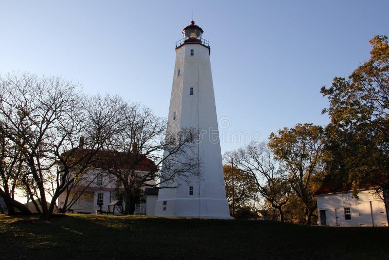 Farol Sandy Hook, o mais antigo farol que funciona nos Estados Unidos, construído em 1764 imagens de stock royalty free