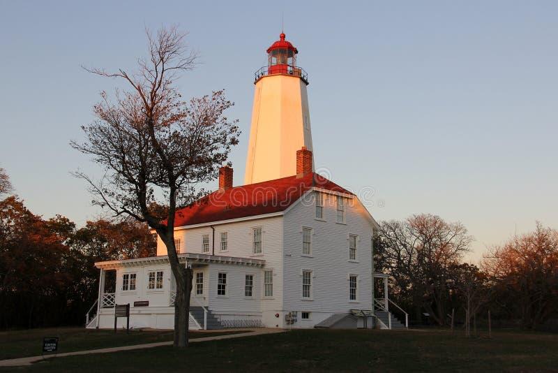 Farol Sandy Hook, o mais antigo farol que funciona nos Estados Unidos, construído em 1764 fotos de stock