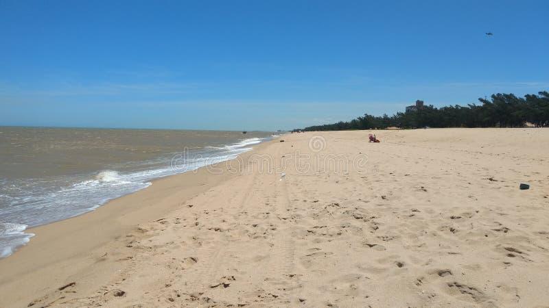 Farol strand arkivbilder
