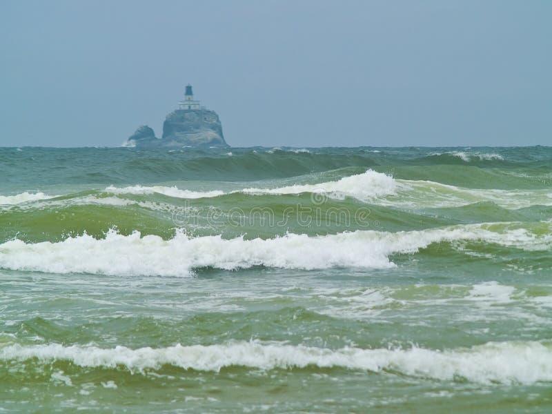 Farol terrível de Tilly na costa de Oregon fotografia de stock royalty free
