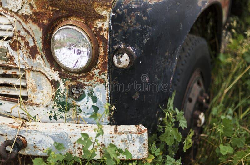 Farol velho do caminhão foto de stock