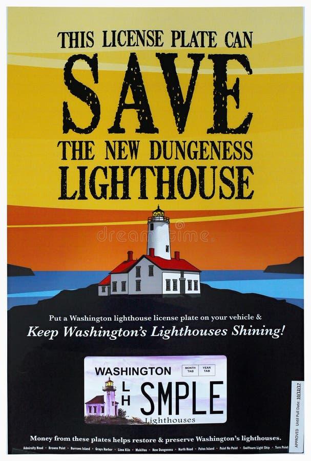 Farol Washington Advertisement Flyer fotografia de stock royalty free