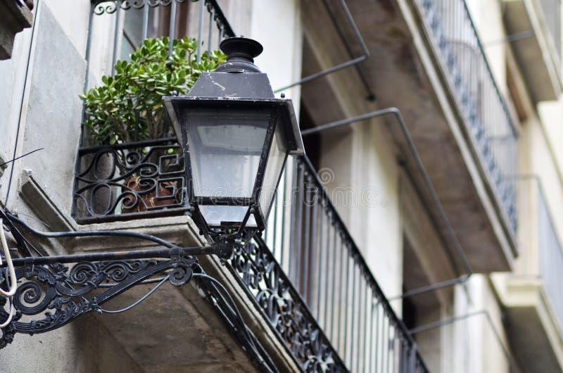Farola a Barcellona fotografie stock