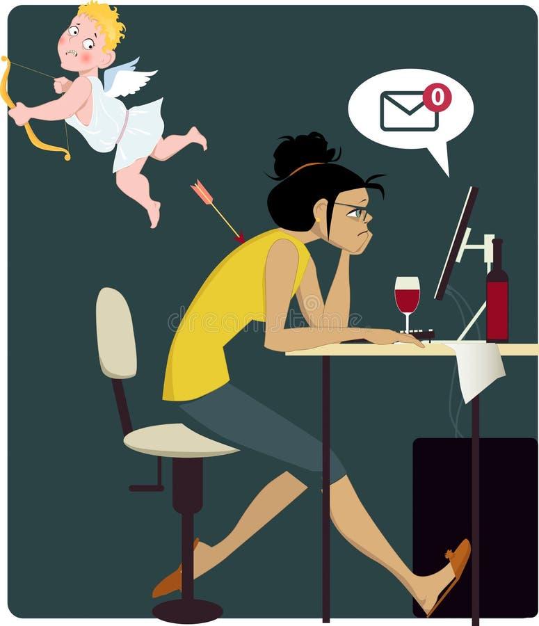 Faror av förälskelse stock illustrationer