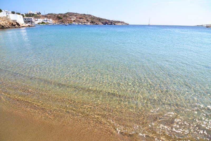 Faros beach at Sifnos island Cyclades Greece stock photos