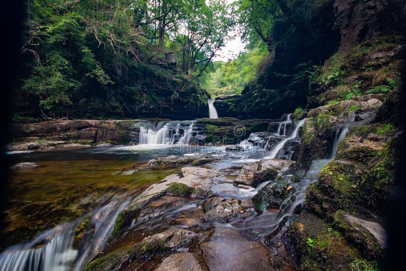 Faros de Brecon de la cascada fotos de archivo libres de regalías
