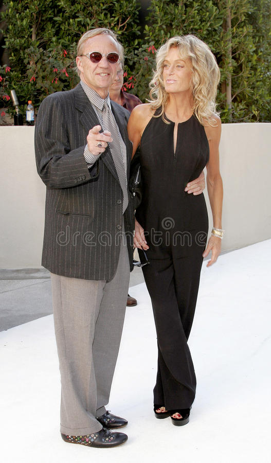 Farrah Fawcett and Jay Bernstein. HOLLYWOOD, CA - OCTOBER 05, 2005: Farrah Fawcett and Jay Bernstein at the remembering Rodney Dangerfield held at at the home of stock photos