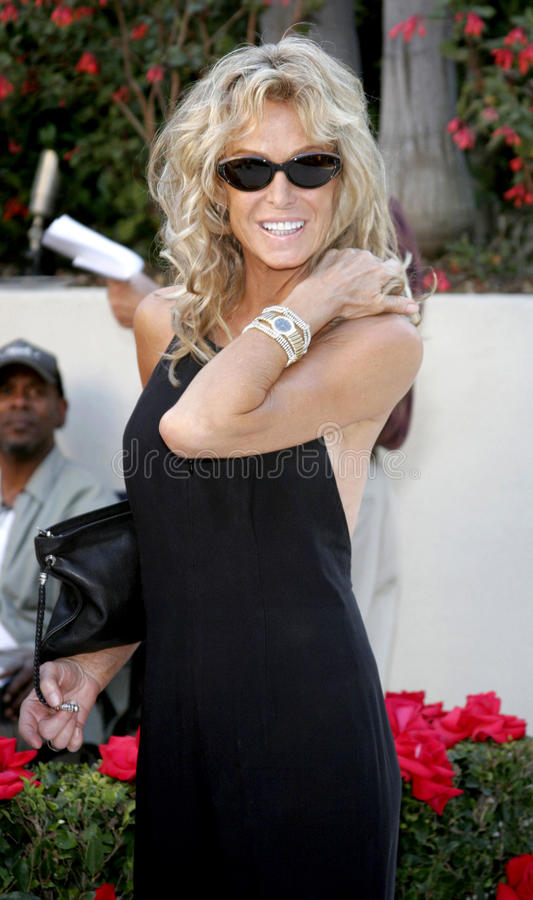 Farrah Fawcett. WEST HOLLYWOOD, CALIFORNIA. October 5, 2005. Farrah Fawcett. Friends of the late comic legend Rodney Dangerfield gather together to commemorate royalty free stock photos