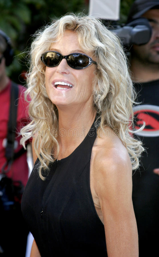 Farrah Fawcett. WEST HOLLYWOOD, CALIFORNIA. October 5, 2005. Farrah Fawcett. Friends of the late comic legend Rodney Dangerfield gather together to commemorate stock image