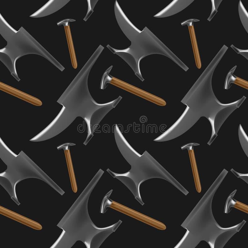 Farriers hulpmiddelenpatroon vector illustratie