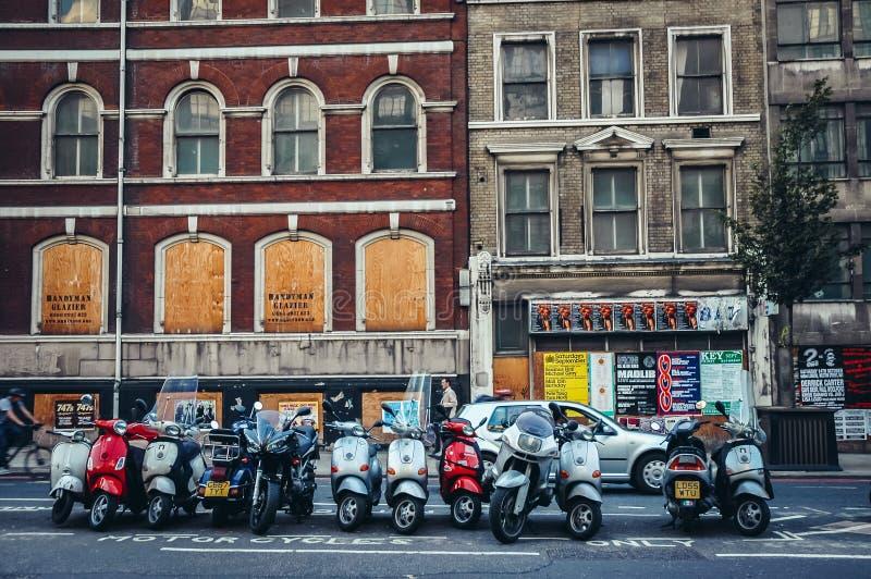 Farringdon路在伦敦 免版税图库摄影