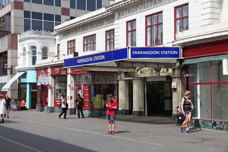 Farringdon-Station, London stockfotografie