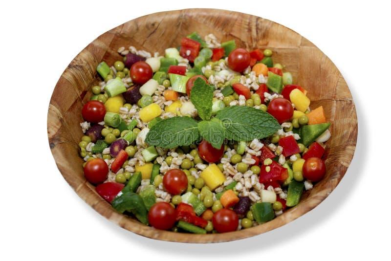 Farro und Salat der grünen Erbsen lizenzfreies stockfoto