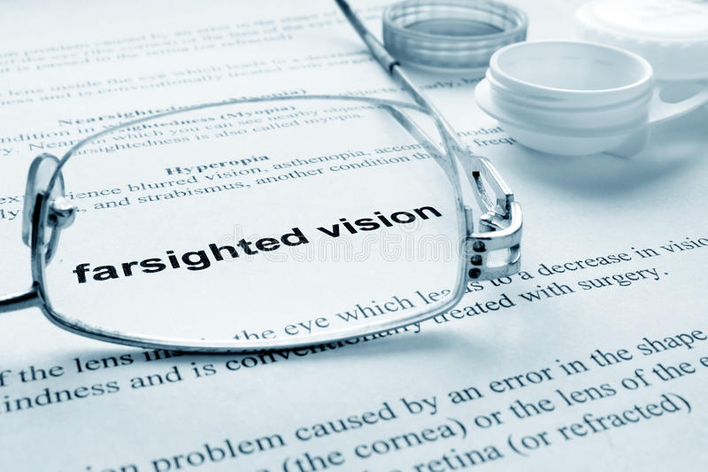 Farsighted wzrok obraz stock