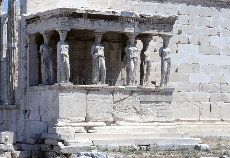 farstubro för athens caryatiderechtheion royaltyfria foton