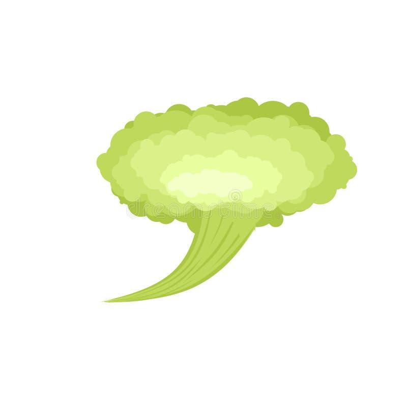 Fart. Green Cloud Stench. Bad smell. Vector illustration.  vector illustration