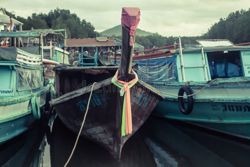 Fartyg för lång svans, tropisk strand, royaltyfri foto
