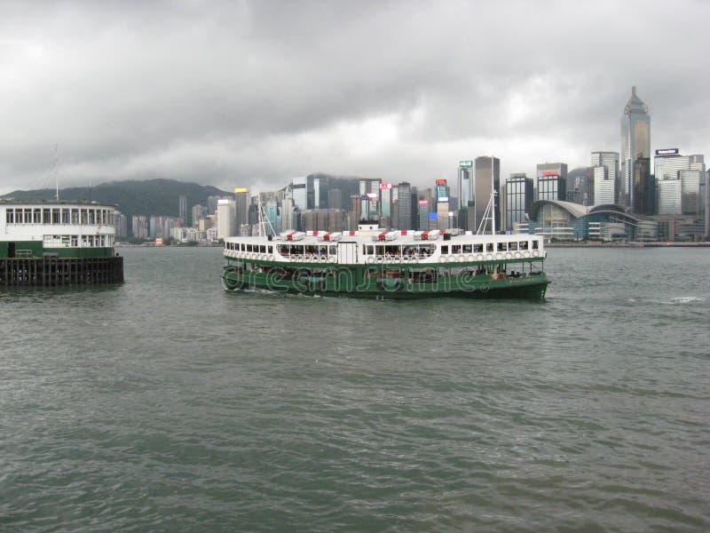 Fartyg för The Star färjakryssning i den Hong Kong hamnen royaltyfri bild
