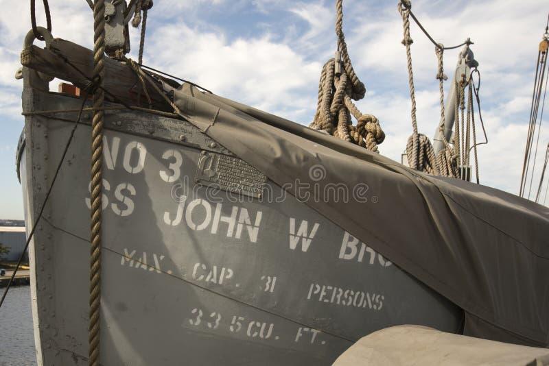 Fartyg för USS John W bruntLiberty Ship liv arkivfoto