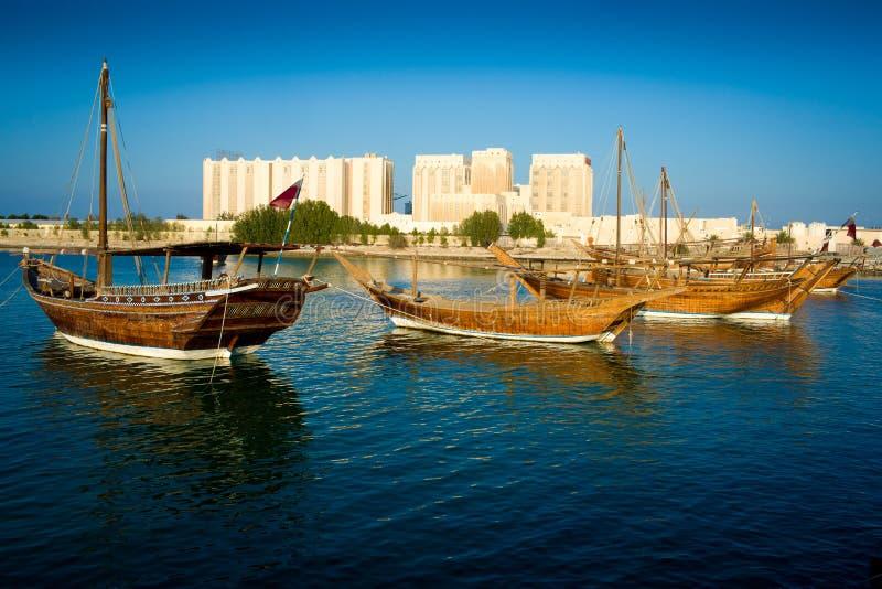 FARTYG I Doha royaltyfria bilder