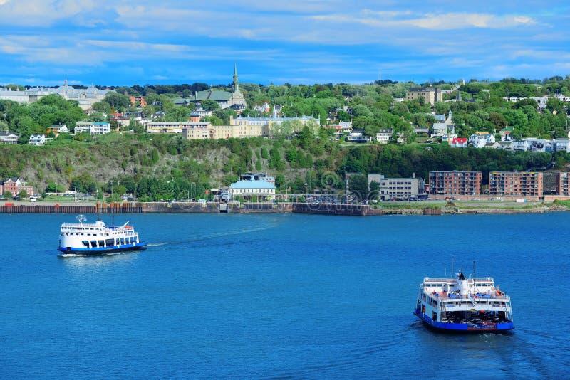 Fartyg i Quebec City royaltyfria bilder