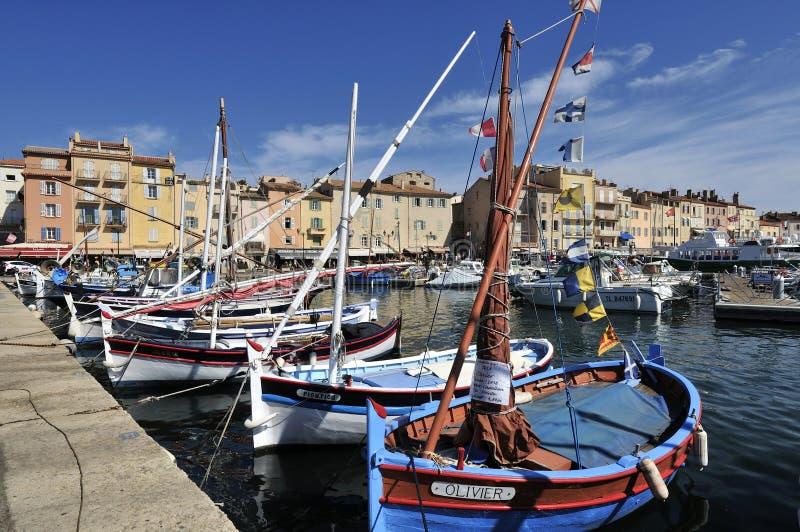 Fartyg i Saint Tropez fotografering för bildbyråer