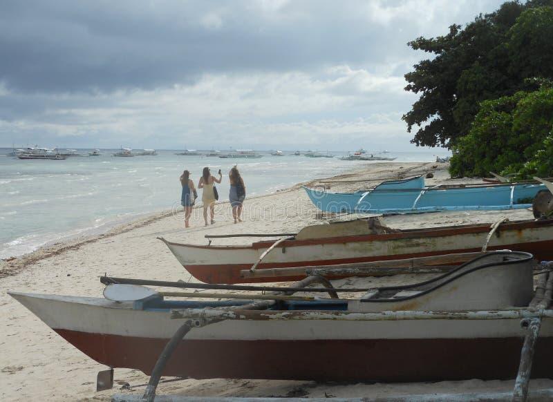 Fartyg på den Panglao östranden royaltyfria foton