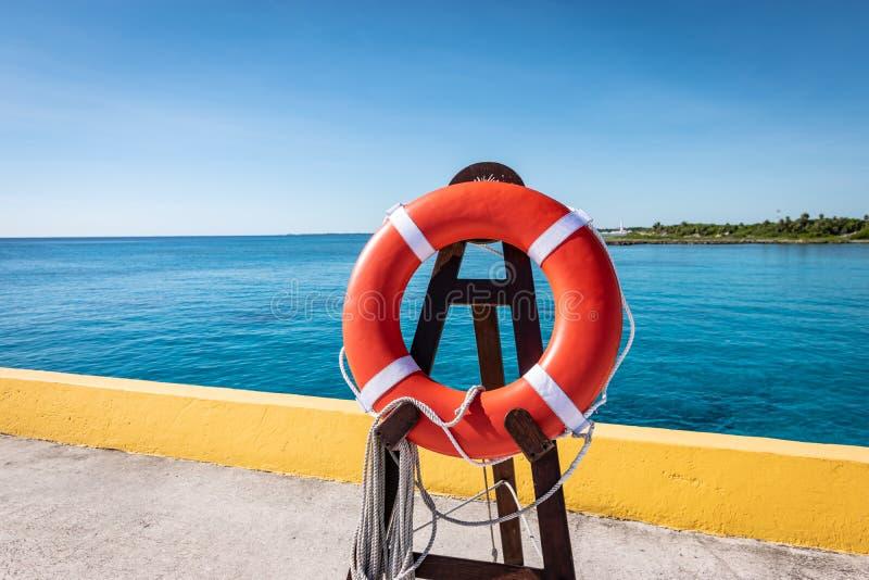 Fartyg på kryssningsfartyg i Costa Maya, Mexiko royaltyfri foto