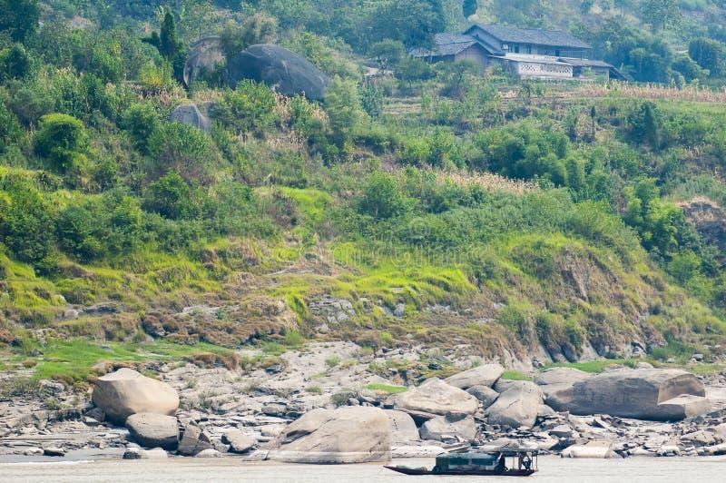 Fartyg på Yangtze River arkivfoto
