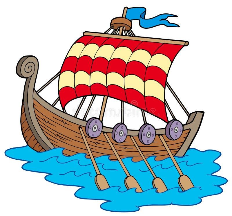fartyg viking stock illustrationer