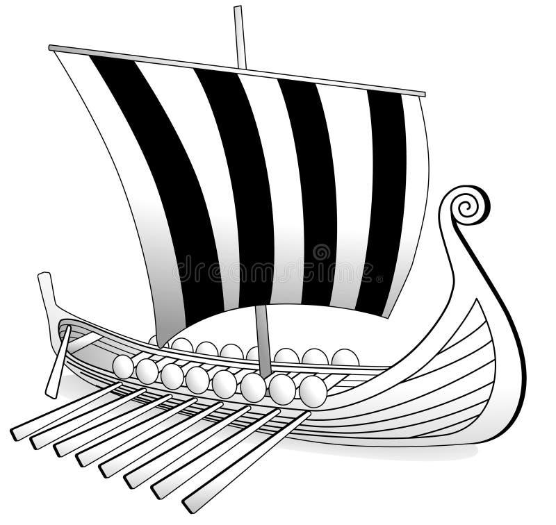 fartyg viking royaltyfri illustrationer