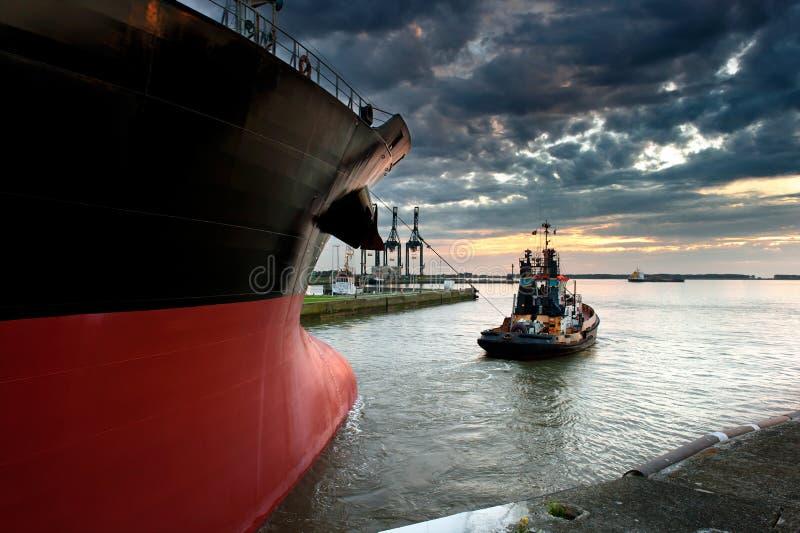 fartygbogserbåt arkivbild