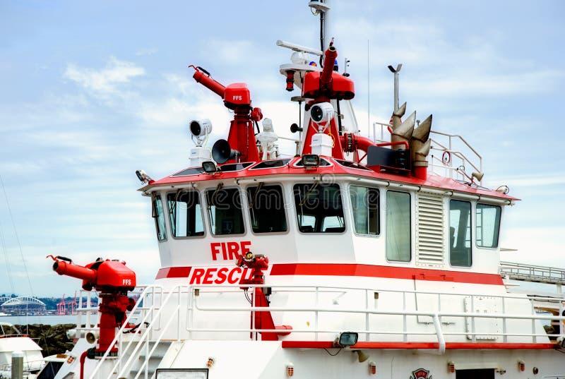 fartygbrandräddningsaktion arkivfoton