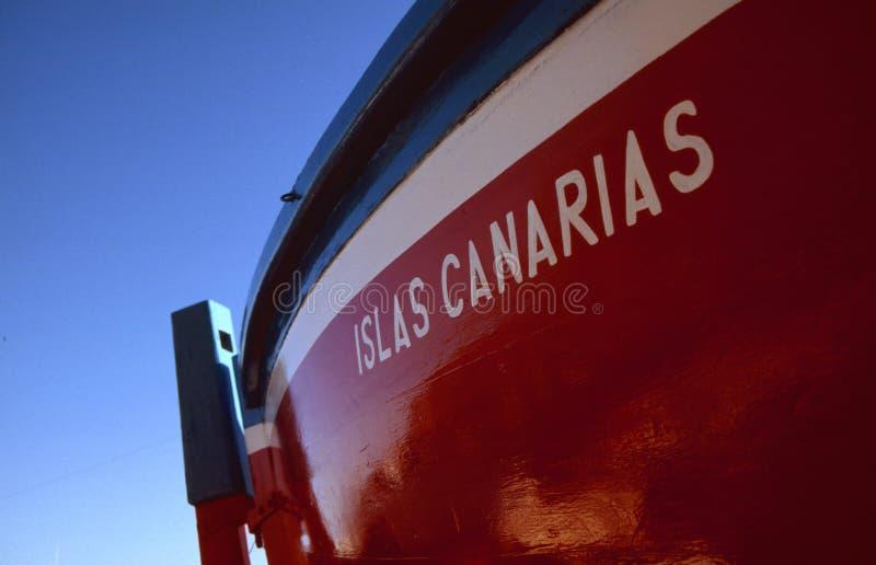 fartygcanarias som fiskar islas royaltyfri foto