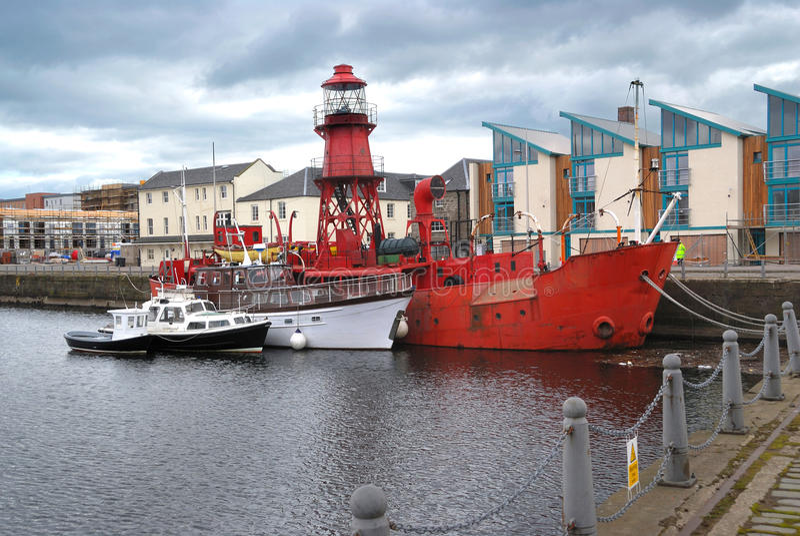 fartygdundee hamn scotland royaltyfri foto