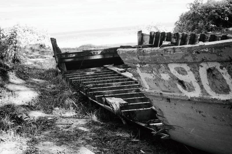 fartyget dilapidated royaltyfria foton