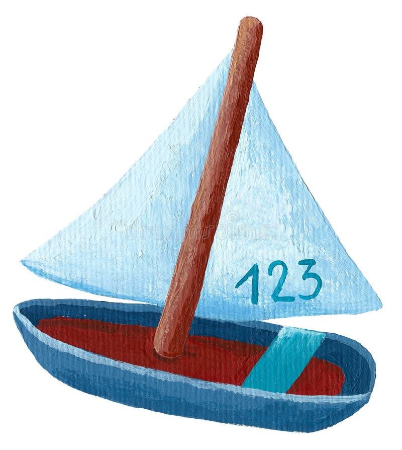 fartyget seglar royaltyfri illustrationer