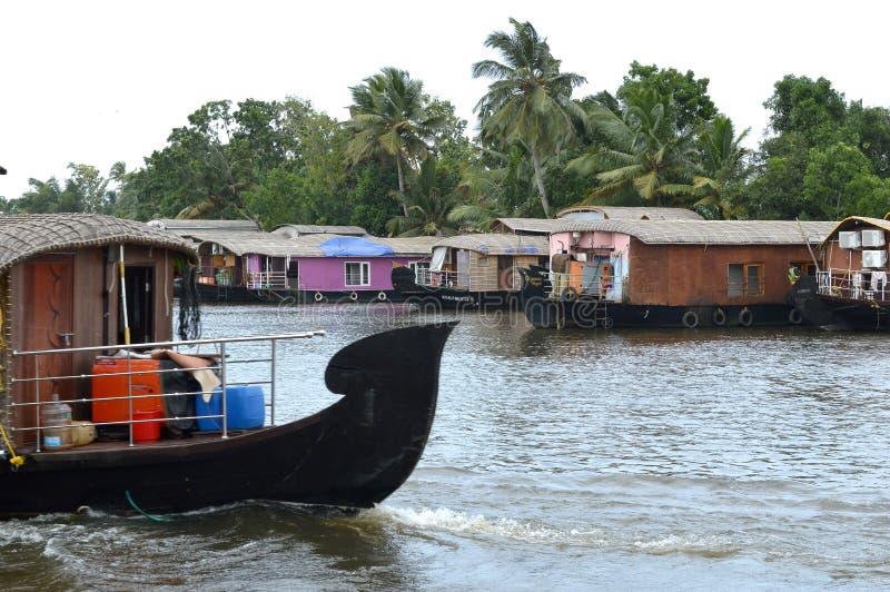 Fartyghus på Kerala royaltyfria bilder
