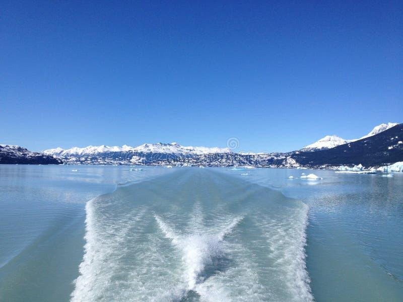 Fartygkryssning i sjön Argentina royaltyfri foto