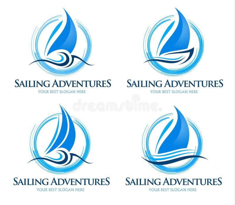 Fartyglogo royaltyfri illustrationer