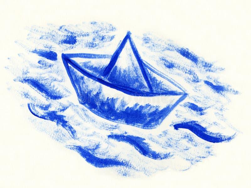 fartygpapper royaltyfri illustrationer