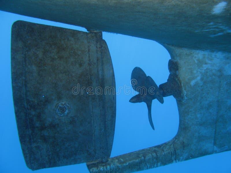 fartygpropeller royaltyfria bilder