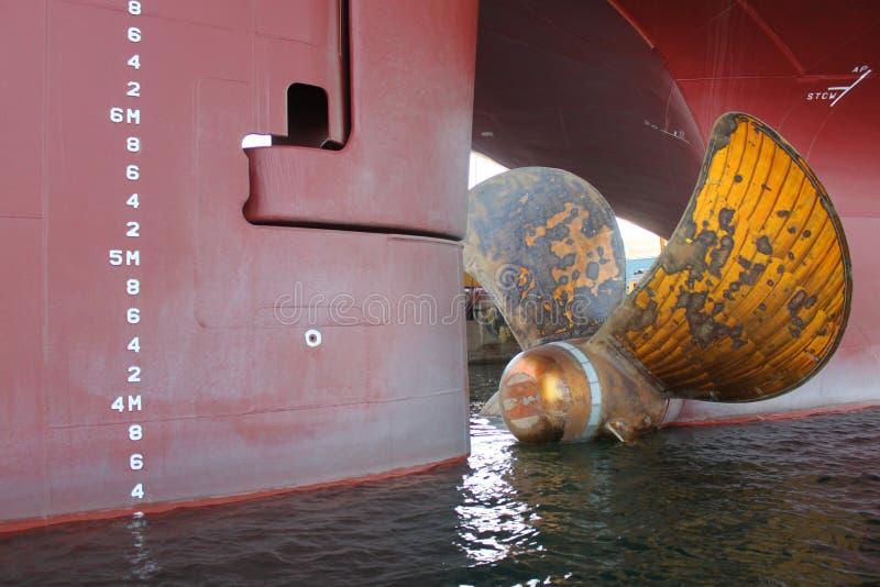Fartygpropeller arkivfoto