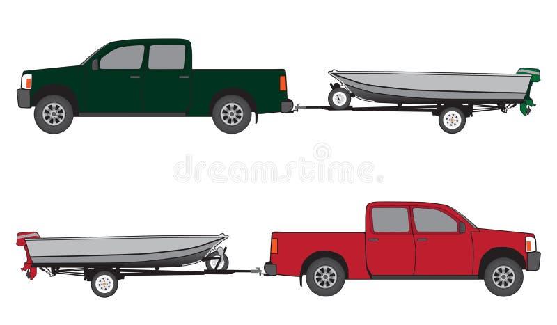 Fartygsläp och uppsamling vektor illustrationer