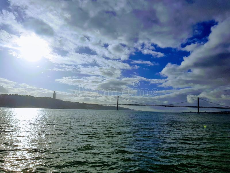 Fartygtur i Lissabon fotografering för bildbyråer
