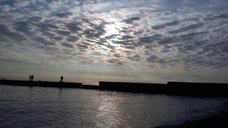 Fartygturer, som kommer med hälsa, ny luft på kusten, royaltyfria foton
